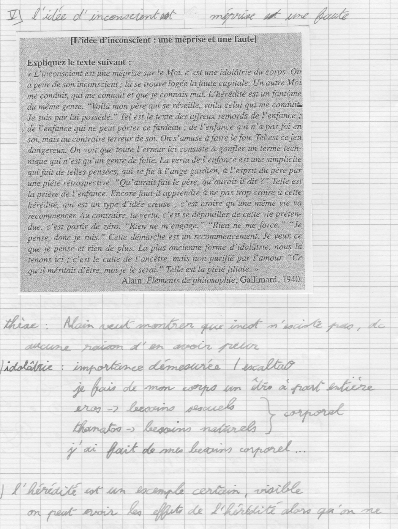 Sujets de philosophie sur L inconscient - MaPhilo net